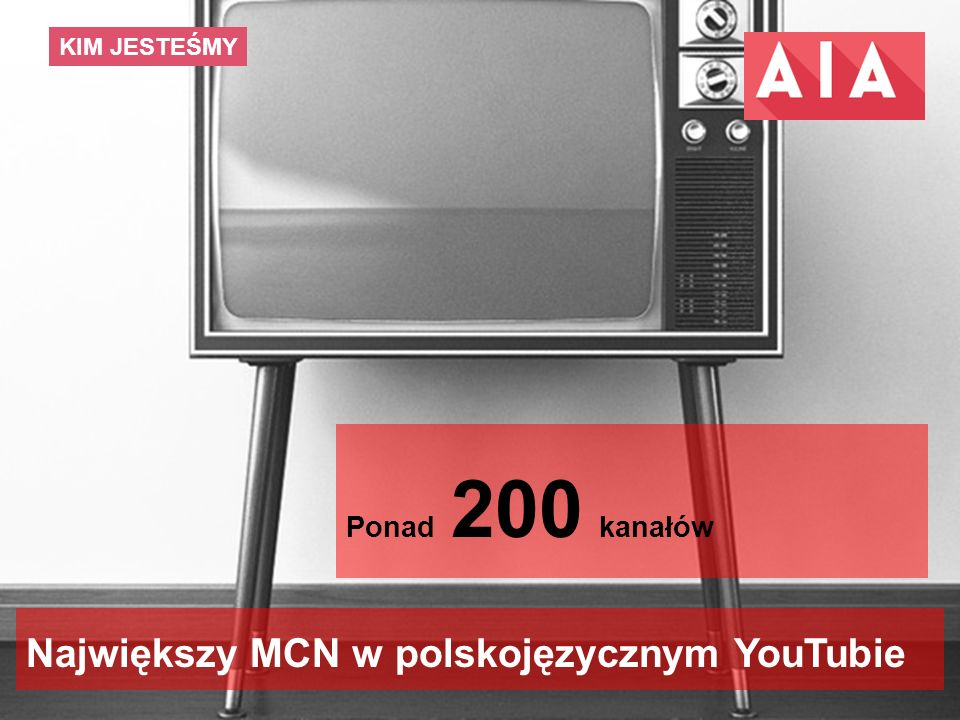 10 KIM JESTEŚMY Największy MCN w polskojęzycznym YouTubie Ponad 40 milionów emisji miesięcznie Ponad 200 kanałów