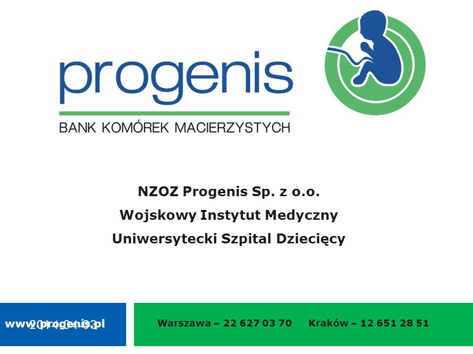 2014-04-03 Warszawa – 22 627 03 70 Kraków – 12 651 28 51 NZOZ Progenis Sp.