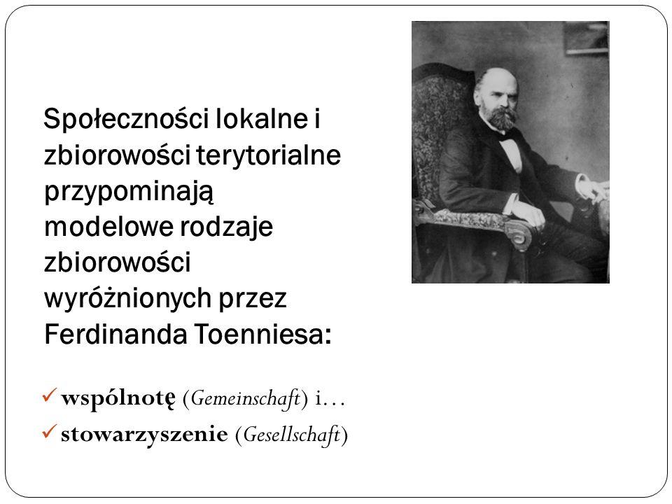 Kategorie Wspólnota/Gemeinschaft ( ż ywy organizm).