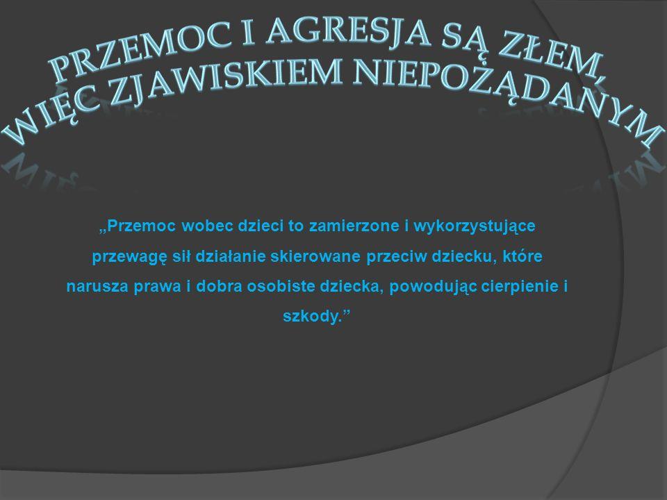 Agresja to określenie zachowania, ukierunkowanego na zewnątrz lub do wewnątrz, mającego na celu spowodowanie szkody fizycznej lub psychicznej.