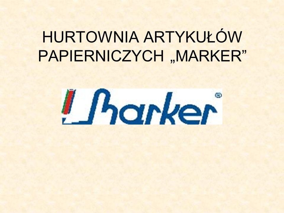 HURTOWNIA ARTYKUŁÓW PAPIERNICZYCH MARKER