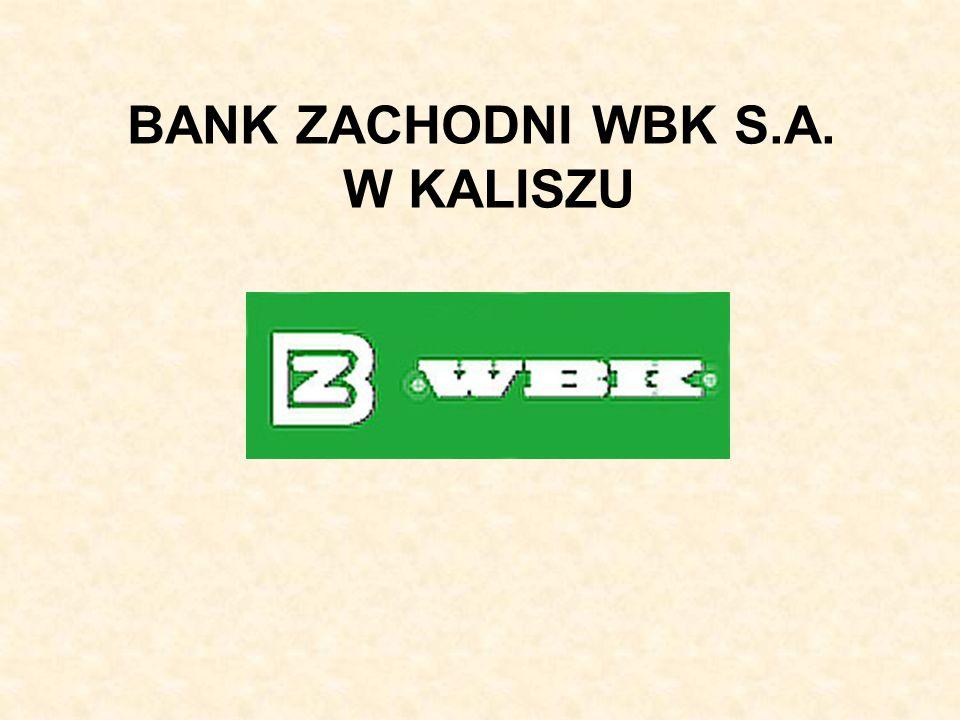 BANK ZACHODNI WBK S.A. W KALISZU