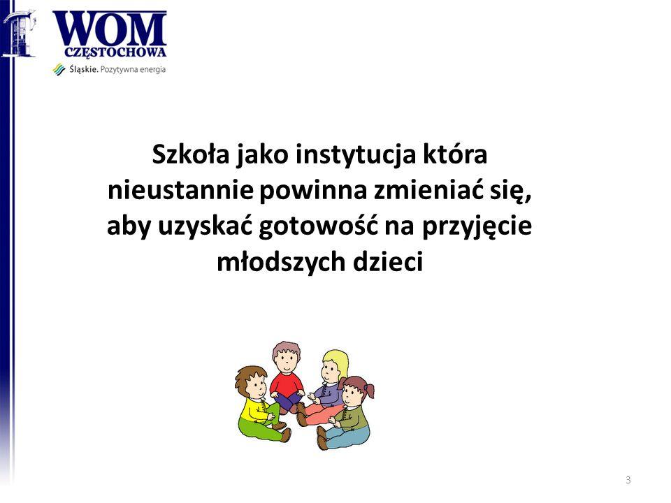 Szkoła jako instytucja która nieustannie powinna zmieniać się, aby uzyskać gotowość na przyjęcie młodszych dzieci 3