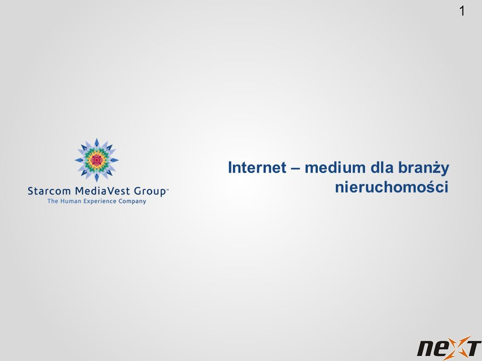 1 Internet – medium dla branży nieruchomości