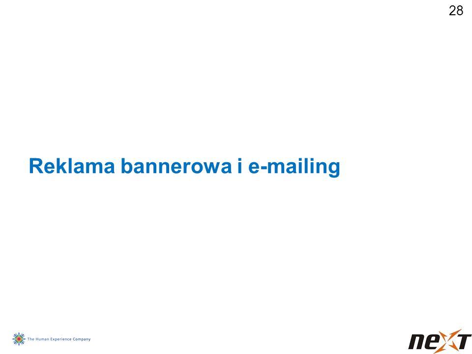 28 Reklama bannerowa i e-mailing