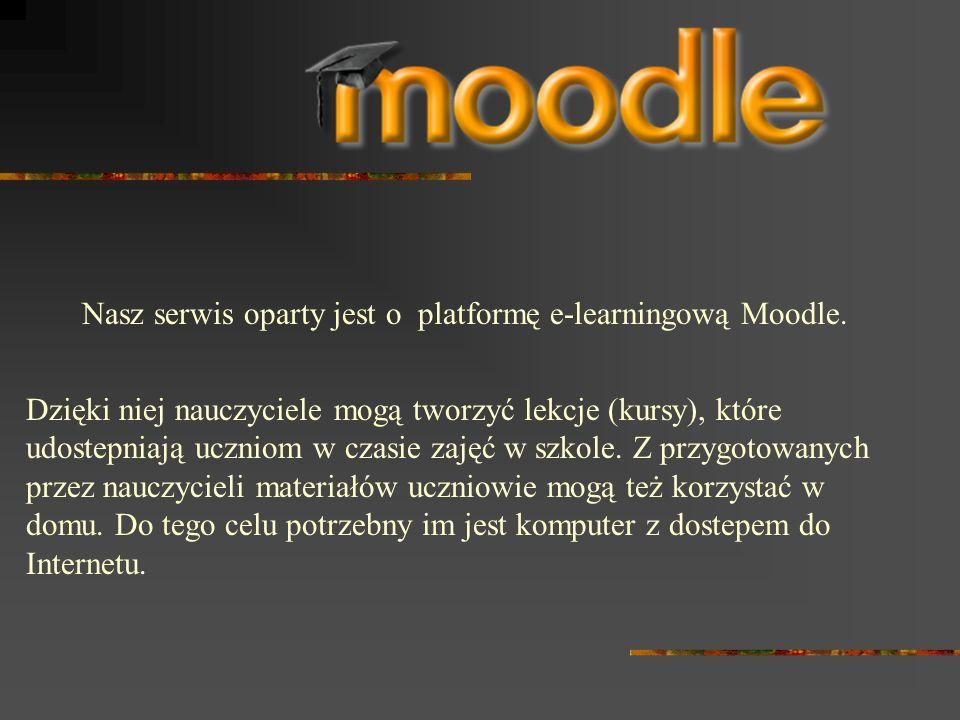 Nasz serwis oparty jest o platformę e-learningową Moodle.