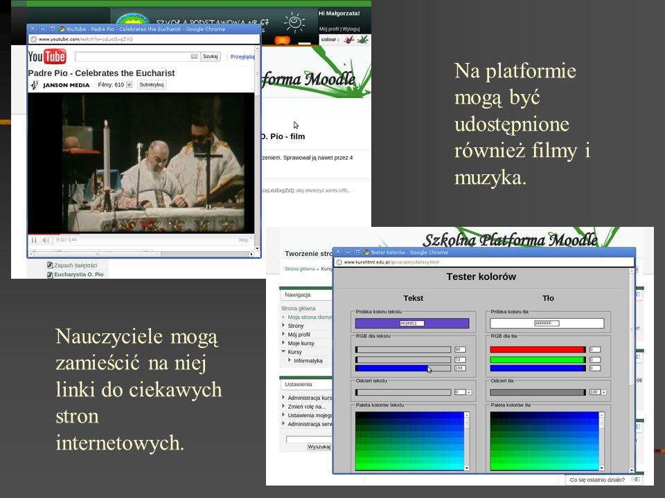 Na platformie mogą być udostępnione również filmy i muzyka.