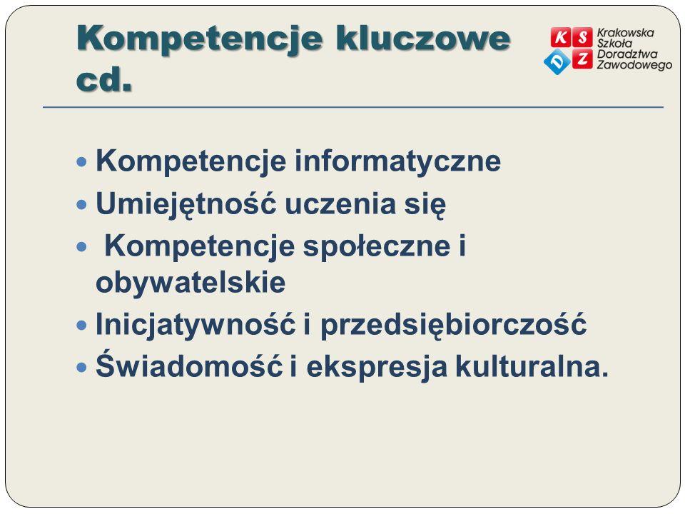 Kompetencje kluczowe cd.