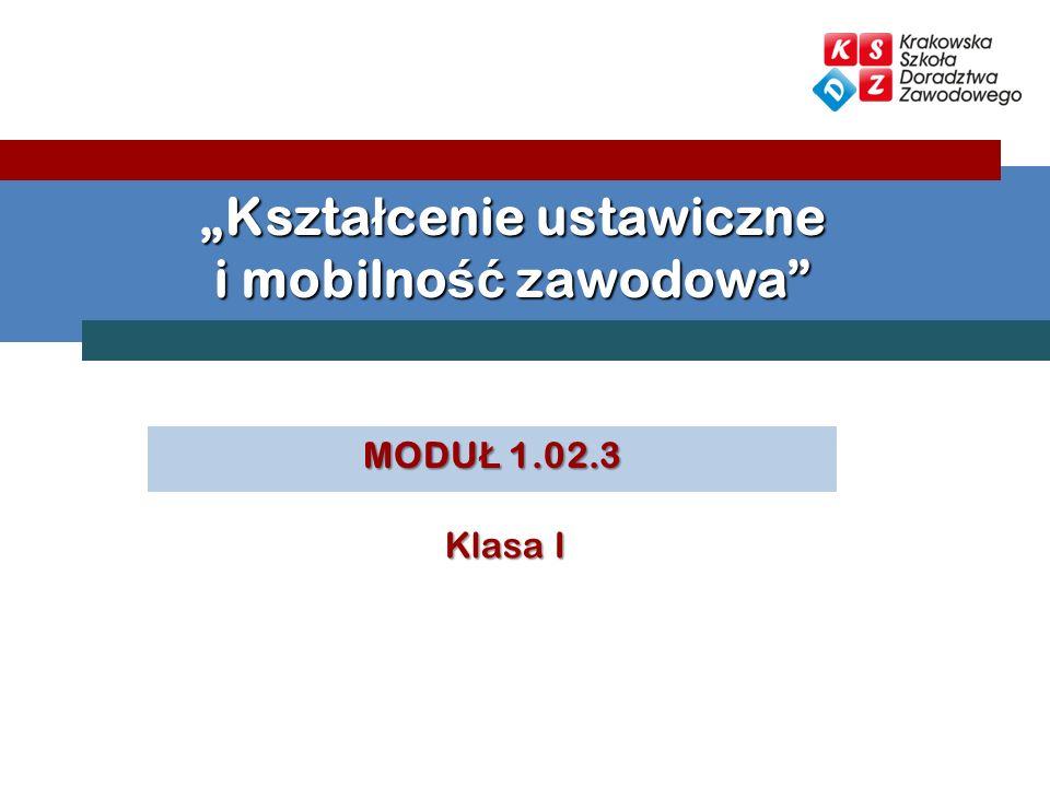 MODU Ł 1.02.3 Kszta ł cenie ustawiczne i mobilno ść zawodowa Klasa I