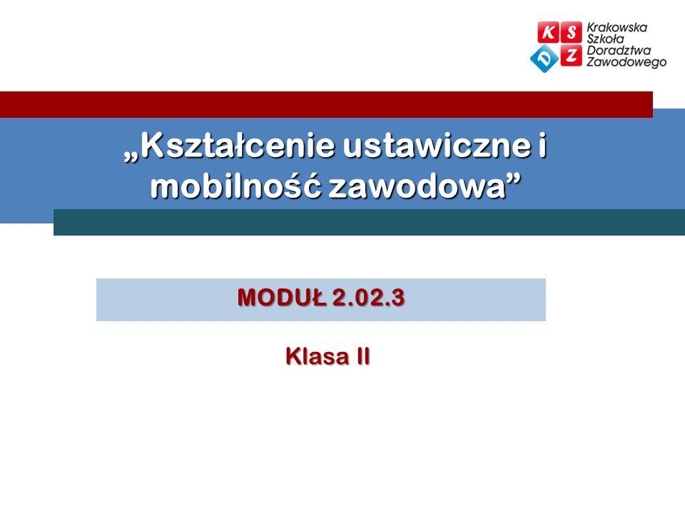 MODU Ł 2.02.3 Kszta ł cenie ustawiczne i mobilno ść zawodowa Klasa II