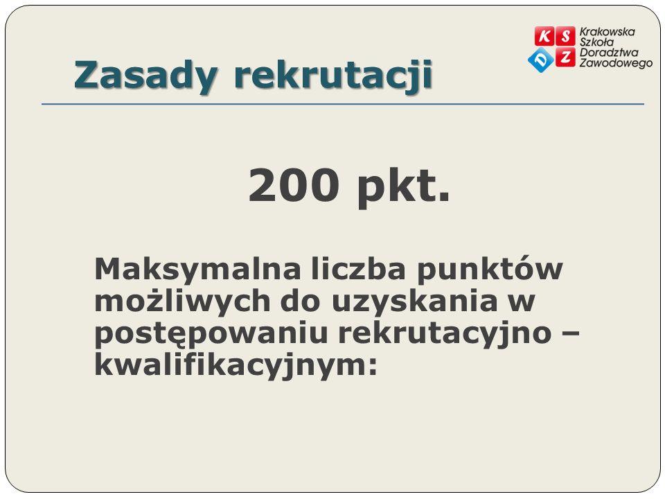Zasady rekrutacji 200 pkt.