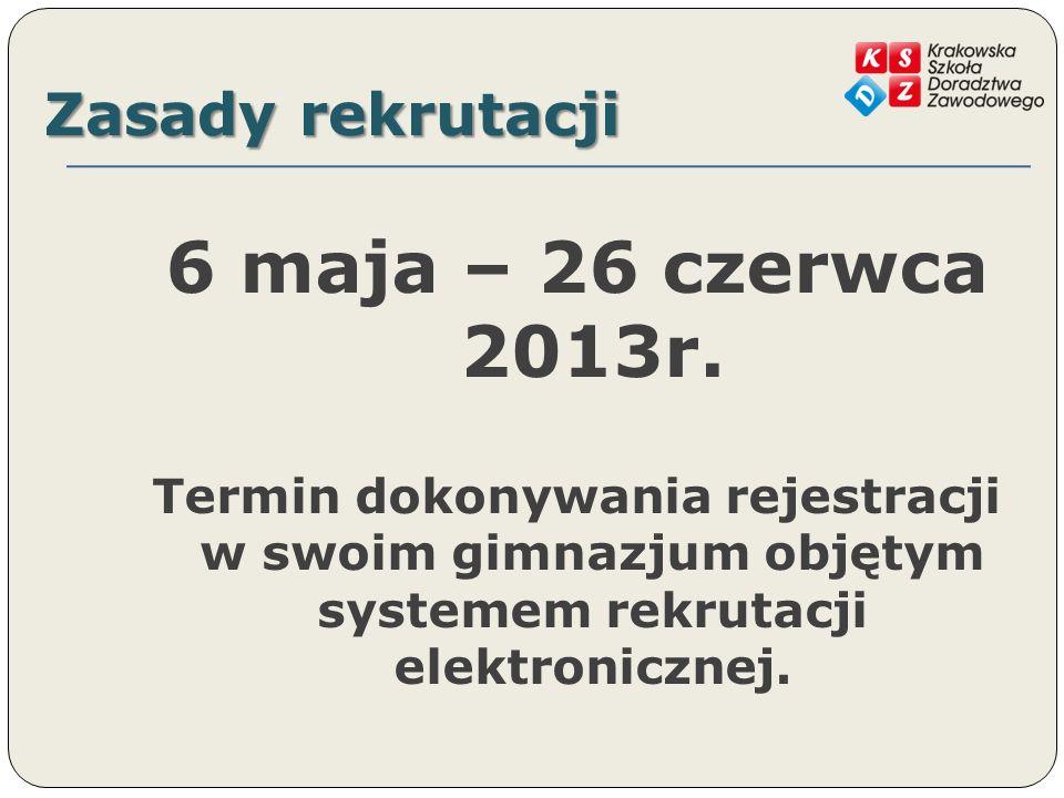 Zasady rekrutacji 100 pkt.– egzamin 1) j. polski - 20pkt.