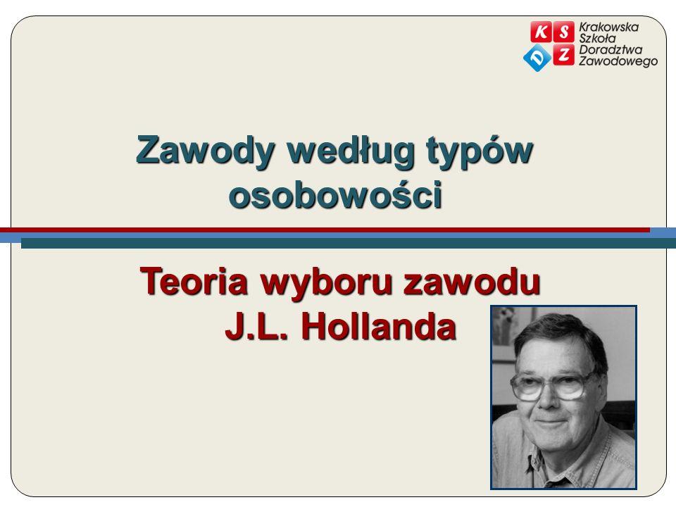 Zawody według typów osobowości Teoria wyboru zawodu J.L. Hollanda