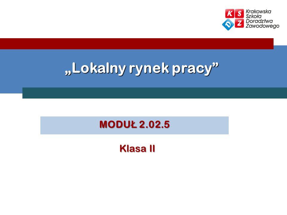 MODU Ł 2.02.5 Lokalny rynek pracy Klasa II