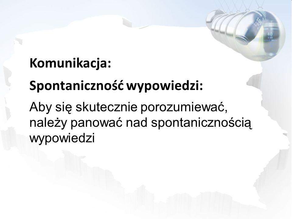 Komunikacja: Spontaniczność wypowiedzi: Aby się skutecznie porozumiewać, należy panować nad spontanicznością wypowiedzi