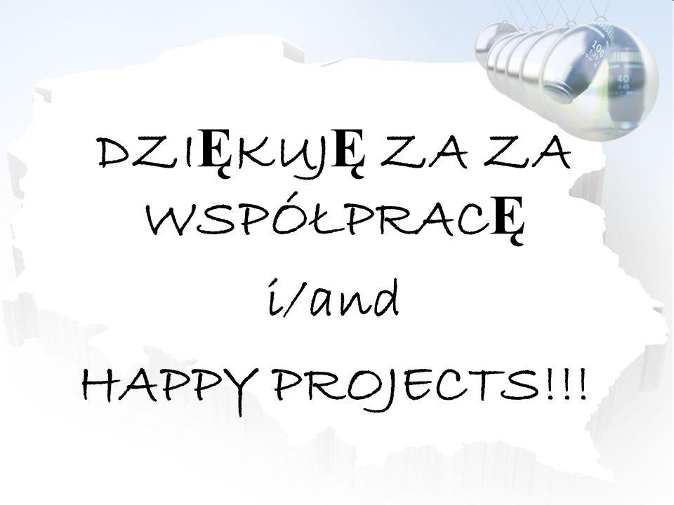 DZI Ę KUJ Ę ZA ZA WSPÓŁPRAC Ę i/and HAPPY PROJECTS!!!