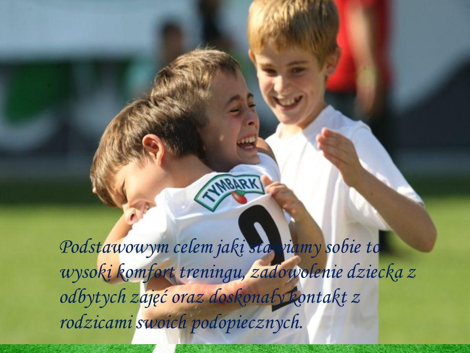 Podstawowym celem jaki stawiamy sobie to wysoki komfort treningu, zadowolenie dziecka z odbytych zajęć oraz doskonały kontakt z rodzicami swoich podop