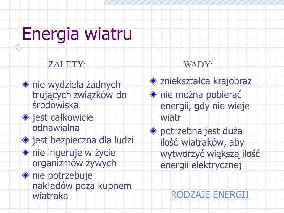 Fot. 1-farma wiatrowa fot. 2-wiatrak pompy wodnej, fot.3- obszary sprzyjające rozwojowi energetyki, fot.4-turbina wykonana amatorsko Fot. 3 Fot. 4Fot.