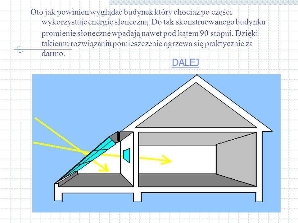 Wykorzystanie energii słonecznej może także polegać na odpowiednim projektowaniu budynków Na tym schemacie widzimy jak promienie słoneczne nie w pełni