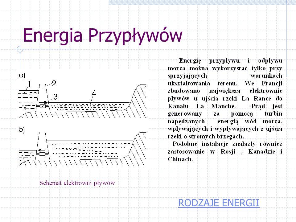 Energia fal a – tratwa, b- kaczka RODZAJE ENERGII