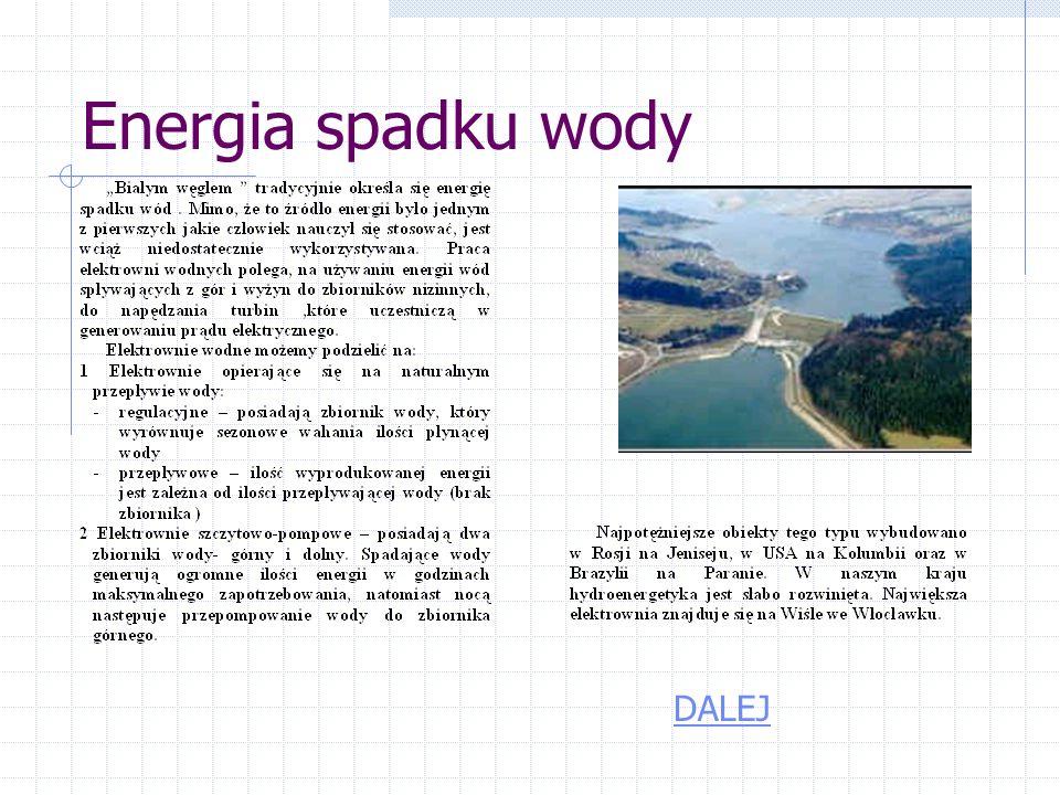 Energia spadku wody DALEJ