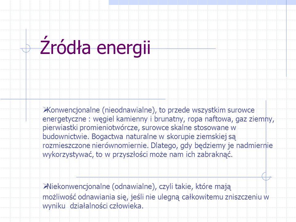 Plantacja wierzby energetycznej w Drozdowie, woj. zachodniopomorskie Brykiet opałowy wyprodukowany z odpadów tartacznych RODZAJE ENERGII