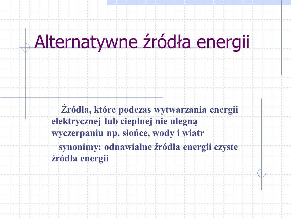 Plan prezentacji Mała elektrownia wodna w Waksmundzie na Podhalu Struktura wykorzystania energii geotermalnej na Świecie Schemat systemu geotermalnego