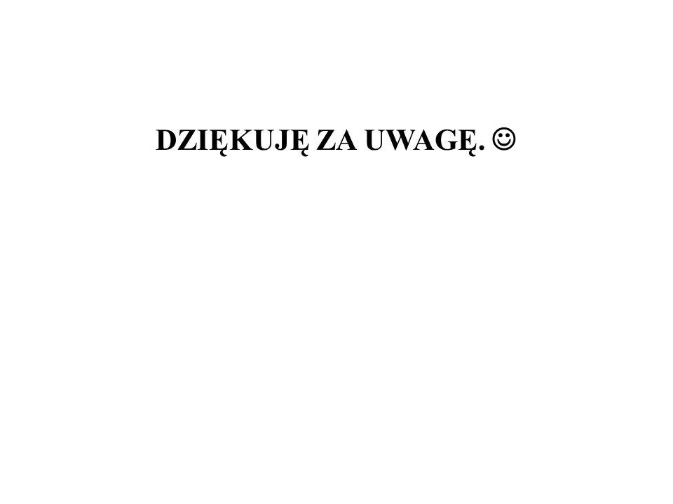 DZIĘKUJĘ ZA UWAGĘ.