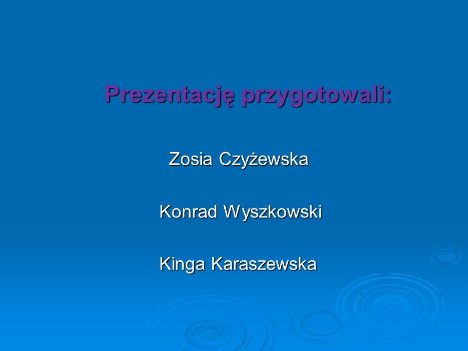 Prezentację przygotowali: Prezentację przygotowali: Zosia Czyżewska Zosia Czyżewska Konrad Wyszkowski Konrad Wyszkowski Kinga Karaszewska Kinga Karasz