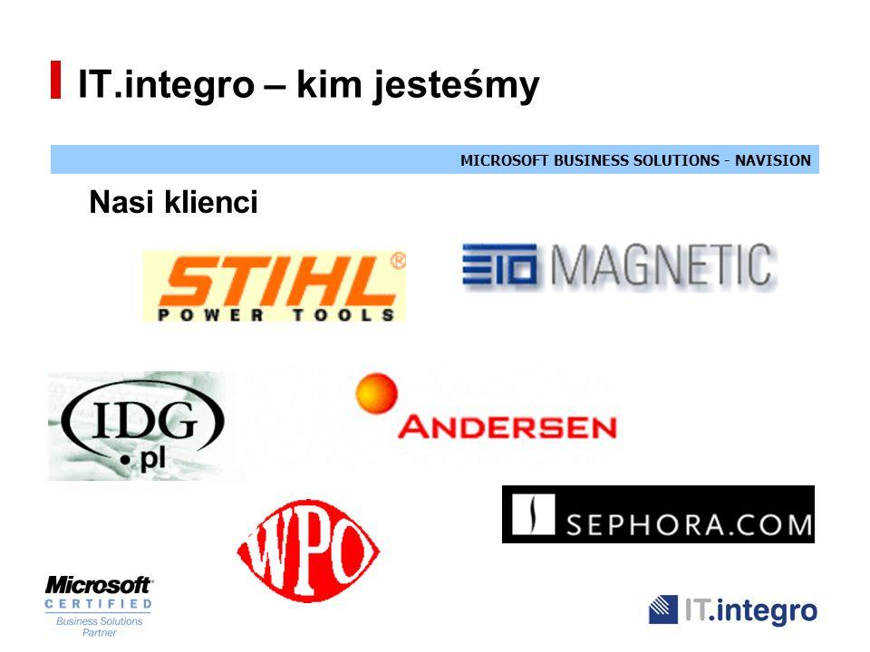 MICROSOFT BUSINESS SOLUTIONS - NAVISION IT.integro – kim jesteśmy Nasi klienci