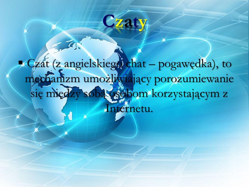 Czat (z angielskiego chat – pogawędka), to mechanizm umożliwiający porozumiewanie się między sobą osobom korzystającym z Internetu. Czat (z angielskie