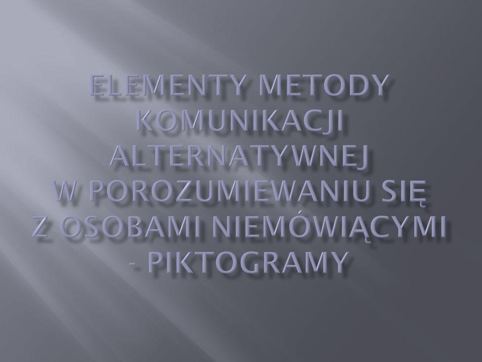 Piktogramy to graficzny system komunikacyjny.