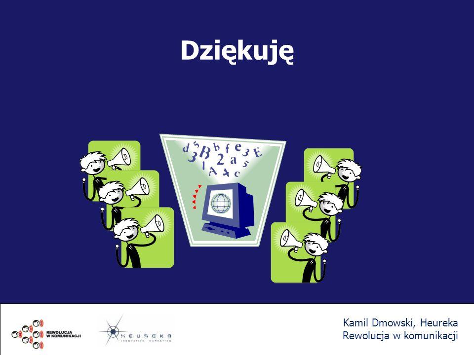 Dziękuję Kamil Dmowski, Heureka Rewolucja w komunikacji