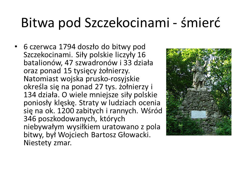 Bitwa pod Szczekocinami - śmierć 6 czerwca 1794 doszło do bitwy pod Szczekocinami.
