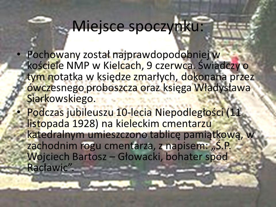 Miejsce spoczynku: Pochowany został najprawdopodobniej w kościele NMP w Kielcach, 9 czerwca.