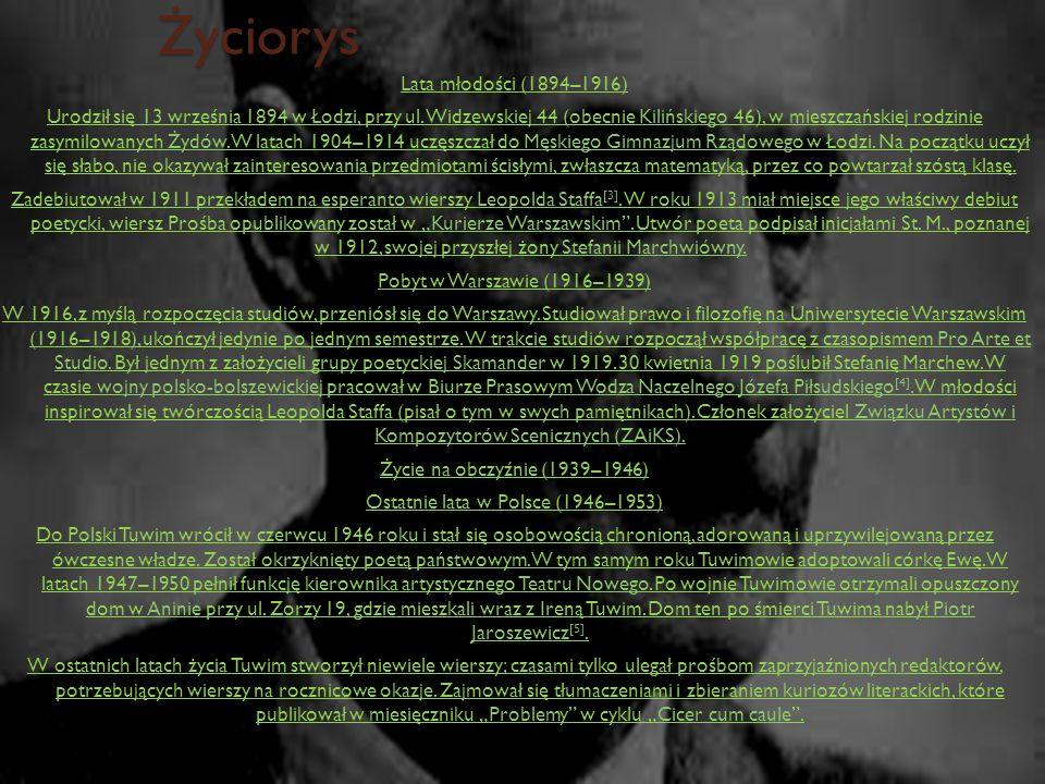 Życiorys Lata młodości (1894–1916) Urodził się 13 września 1894 w Łodzi, przy ul. Widzewskiej 44 (obecnie Kilińskiego 46), w mieszczańskiej rodzinie z