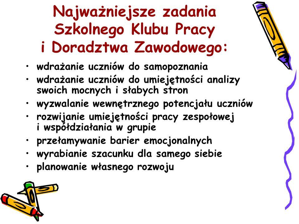 Dni Otwarte Szkoły Organizacja i prezentowanie oferty edukacyjnej Zaprezentowanie działalności klubu