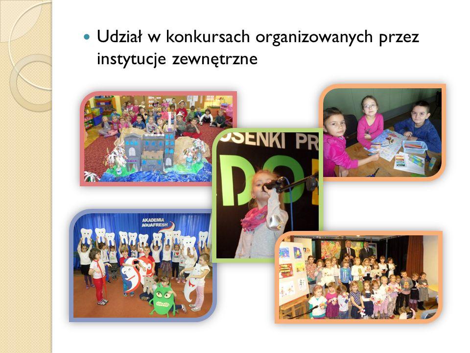 Udział w konkursach organizowanych przez instytucje zewnętrzne