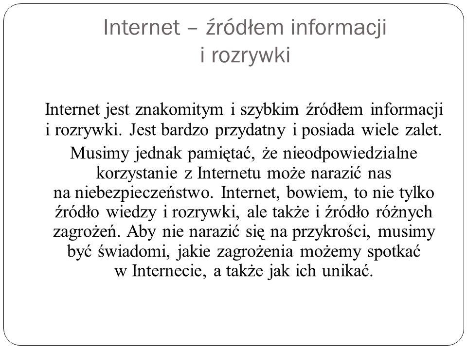 Bądź rozsądny nie rozsyłaj internetowych łańcuszków.