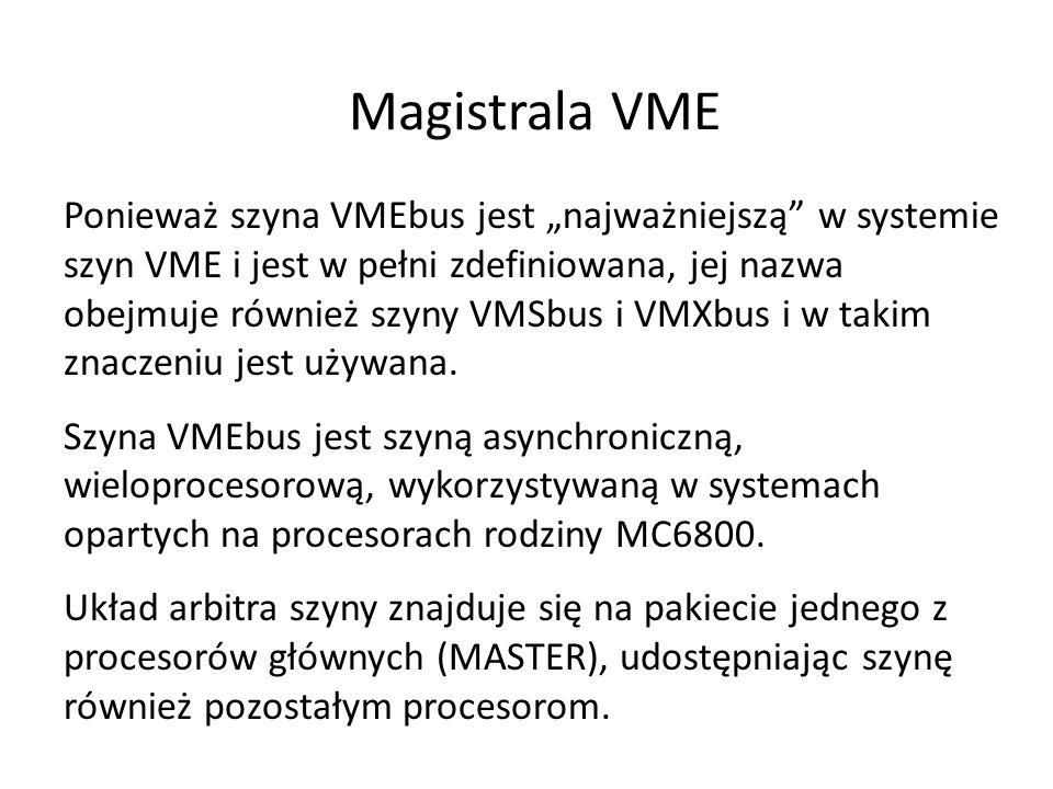 Ponieważ szyna VMEbus jest najważniejszą w systemie szyn VME i jest w pełni zdefiniowana, jej nazwa obejmuje również szyny VMSbus i VMXbus i w takim z
