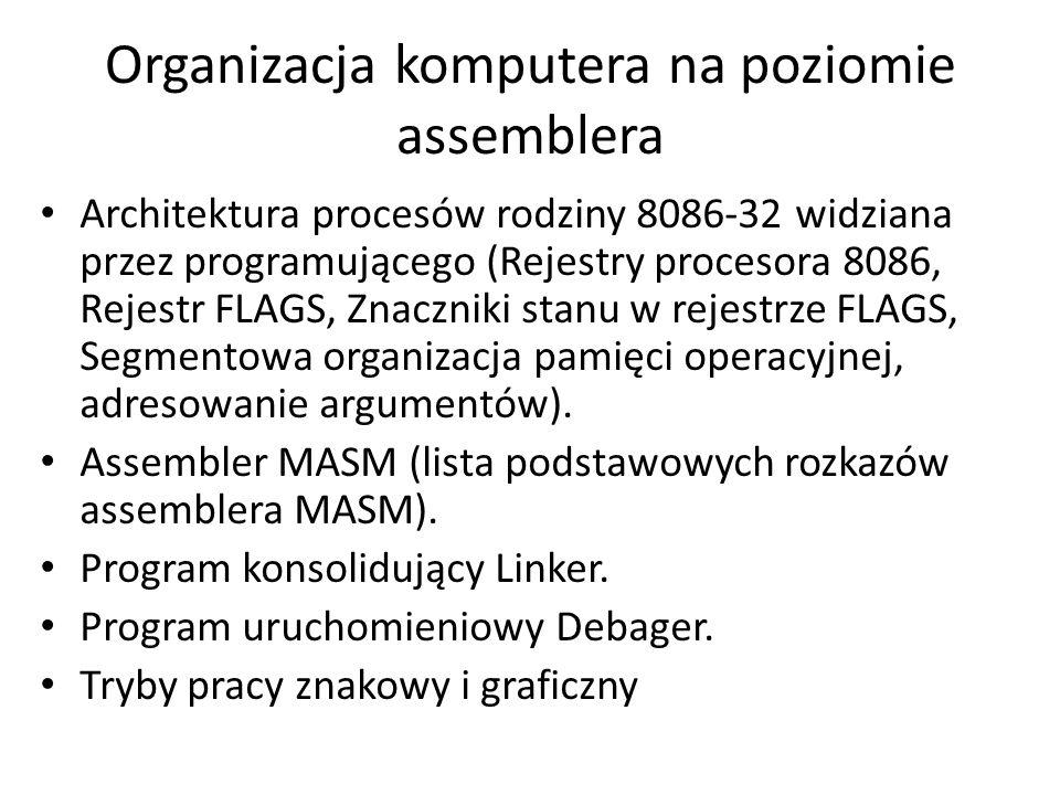 Organizacja komputera na poziomie assemblera Architektura procesów rodziny 8086-32 widziana przez programującego (Rejestry procesora 8086, Rejestr FLA