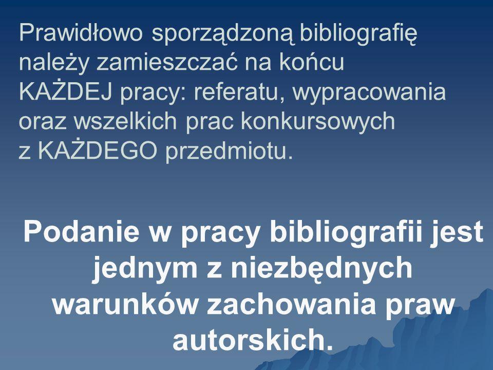 Przykład: Jaworski Marcin: Różewicz – ostatni modernista. Polonistyka 2005, nr 5, s. 18-24.