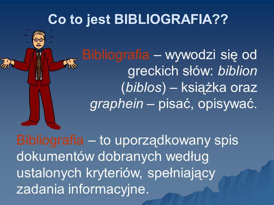 Bibliografia załącznikowa powinna być opracowana zgodnie z normami: PN - ISO-2:1999 Informacja i dokumentacja - Przypisy bibliograficzne - Dokumenty elektroniczne i ich części.