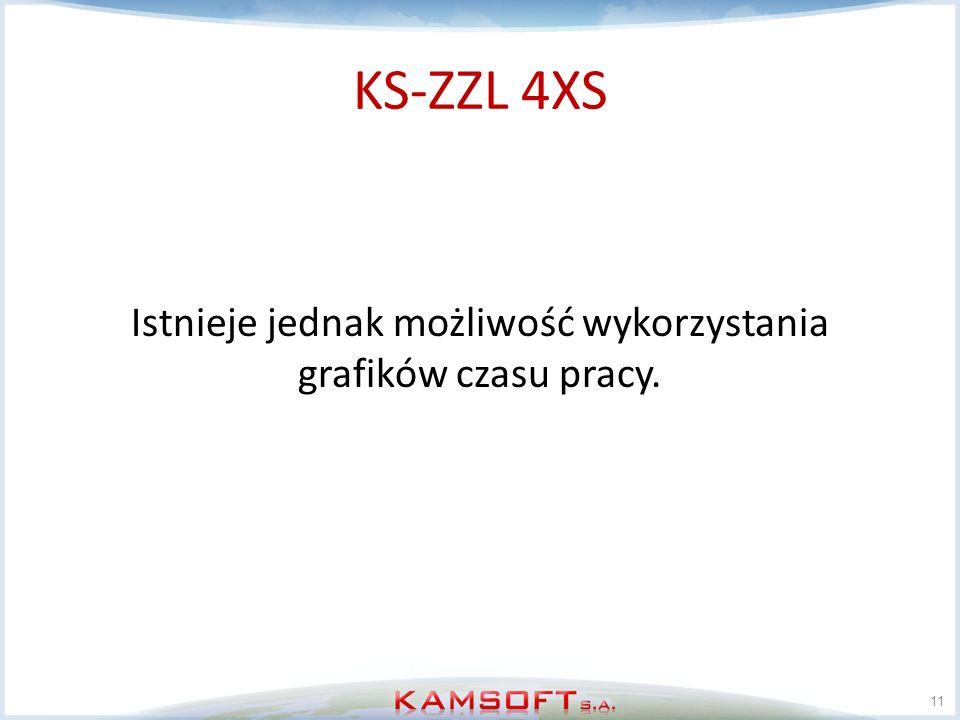 KS-ZZL 4XS Istnieje jednak możliwość wykorzystania grafików czasu pracy. 11