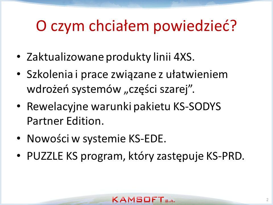 Nowości w systemie KS-EDE System stał się integralnym elementem systemu KS-AOW.