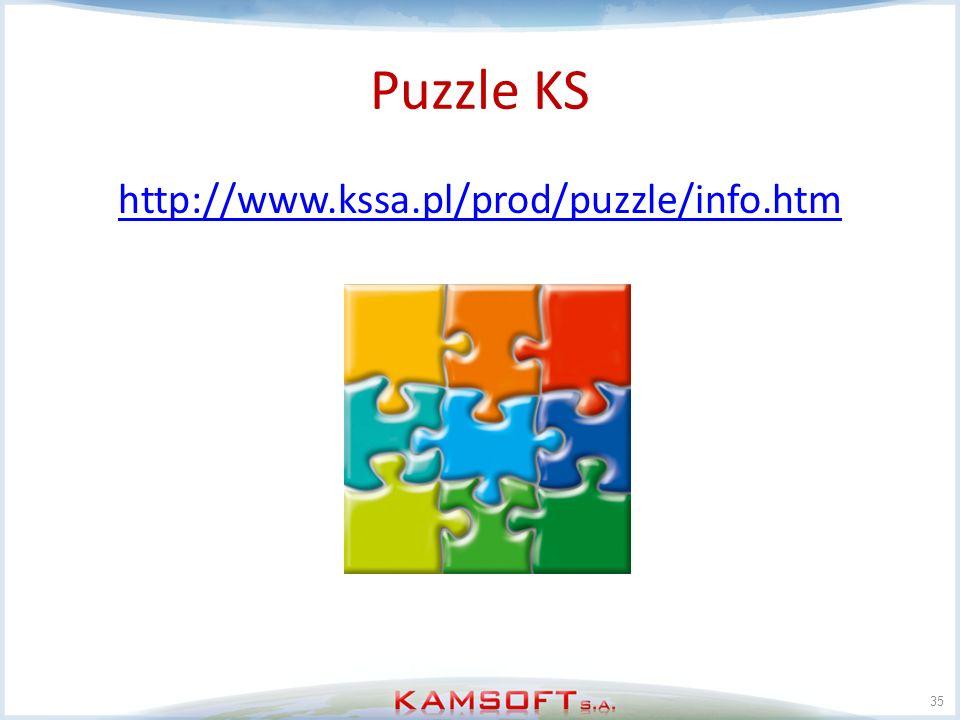 Puzzle KS http://www.kssa.pl/prod/puzzle/info.htm 35