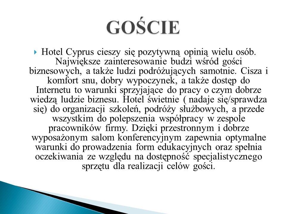 Hotel Cyprus cieszy się pozytywną opinią wielu osób. Największe zainteresowanie budzi wśród gości biznesowych, a także ludzi podróżujących samotnie. C