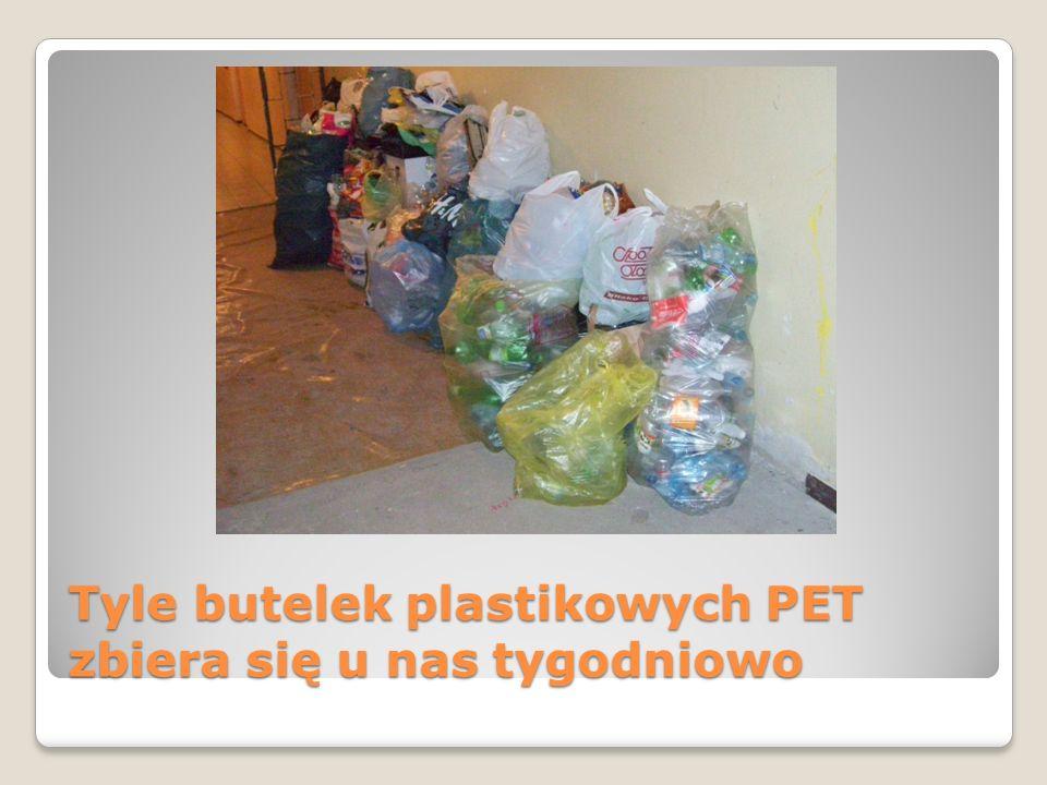Tyle butelek plastikowych PET zbiera się u nas tygodniowo