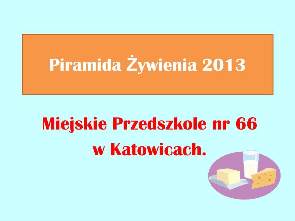 Piramida Ż ywienia 2013 Miejskie Przedszkole nr 66 w Katowicach.