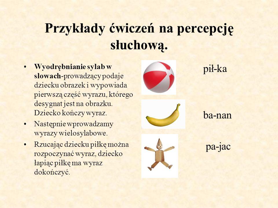 Przykłady ćwiczeń na percepcję słuchową-analiza i synteza zdań.